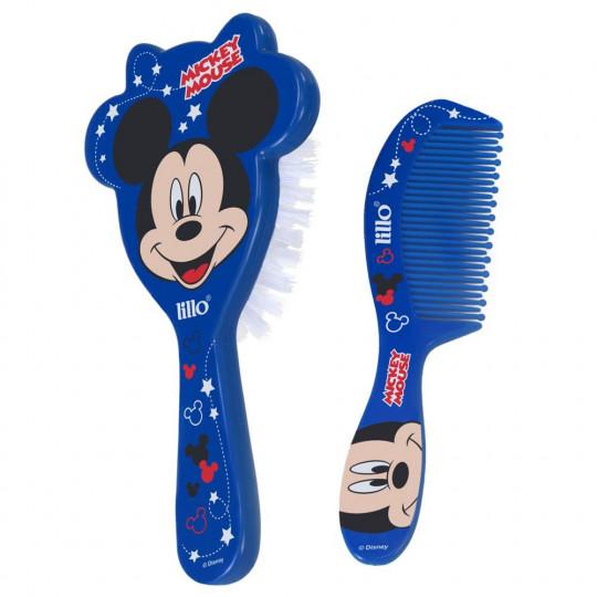 Kit Pente E Escova Disney Mickey Lillo 303120