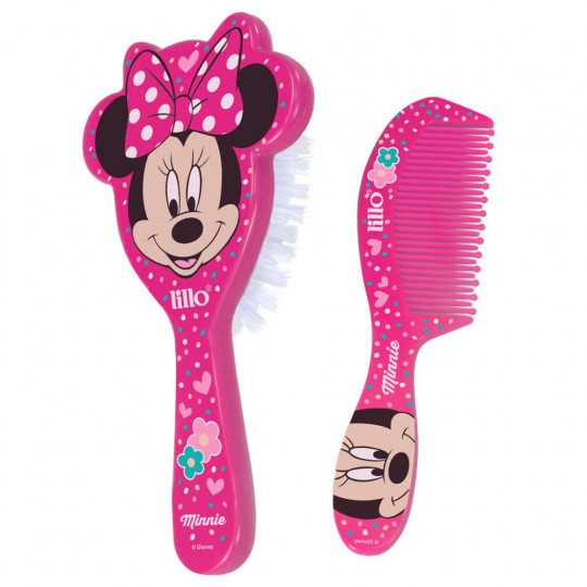 Kit Pente E Escova Disney Minnie Lillo 303130