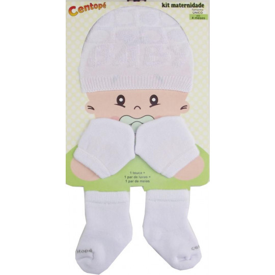 Kit Maternidade c/3 pcs Centope branco 63