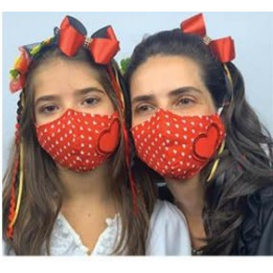 Kit Máscara De Proteção Tal Mãe Tal Filha Gugudada